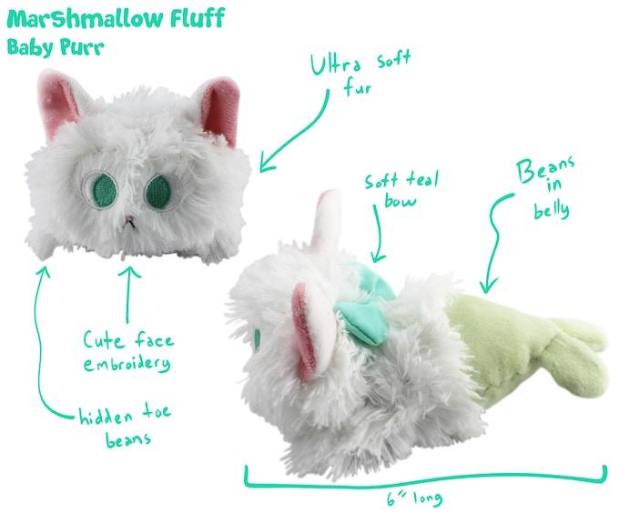 Marshmallow Fluff Baby Purr - $15