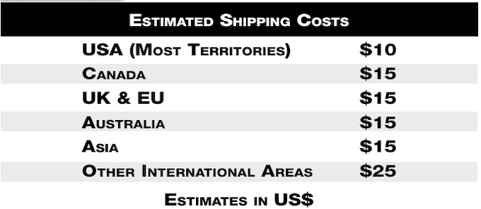 *Please remember that shipping is charged after the Kickstarter campaign in the pledge manager