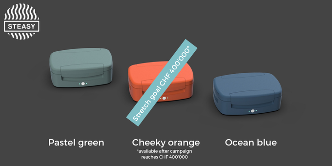 The color can be chosen after the Kickstarter campaign.