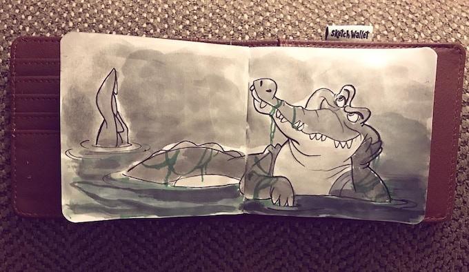 Medium Sketch Wallet drawing by @theanimatedlife