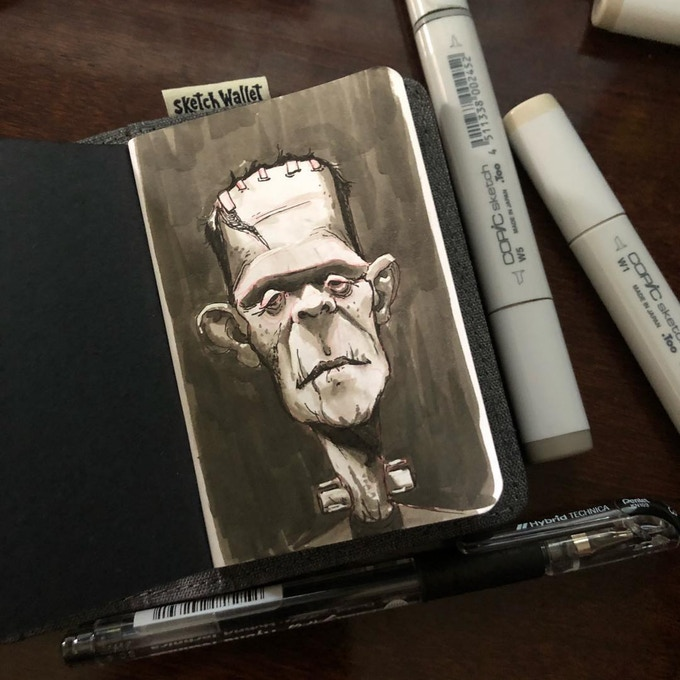 Small Sketch Wallet drawing by @munoa13