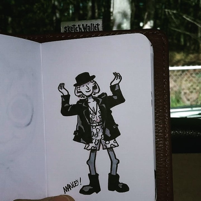 Small Sketch Wallet drawing by @manleycartoonist