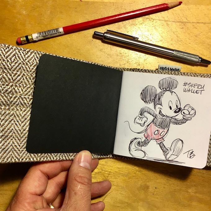 Medium Sketch Wallet drawing by @pumbaaguy