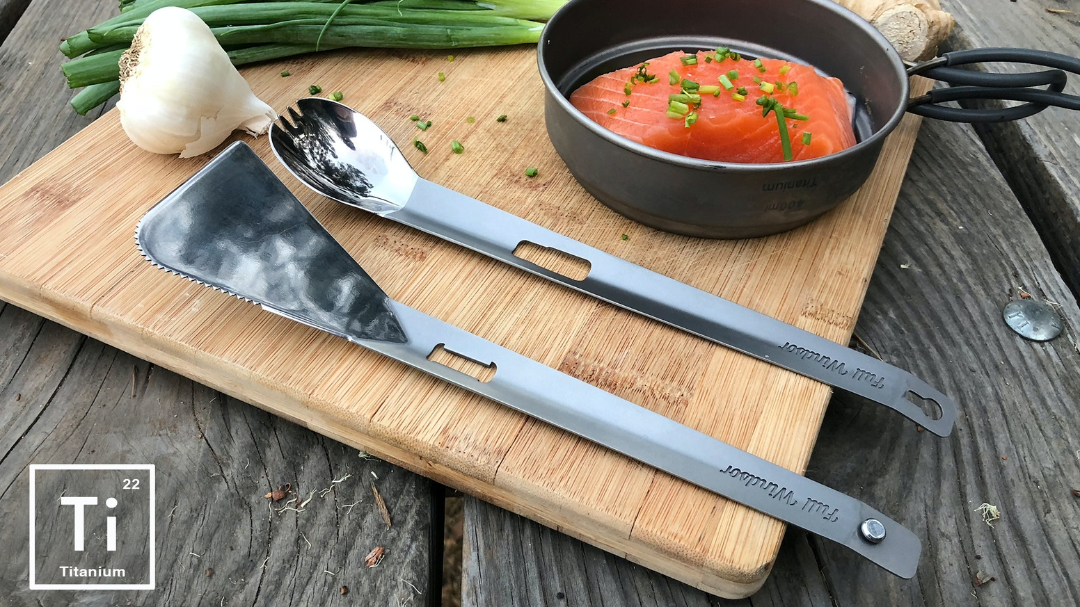 TONGS - SPATULA - SPORK. Super lightweight cooking / eating utensil for  Camping / BBQ / Backpacking Weighing just 1.8oz / 50g