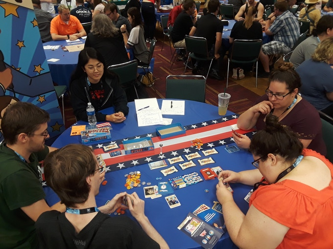 An image from one of our blind play tests at Gencon 2018!