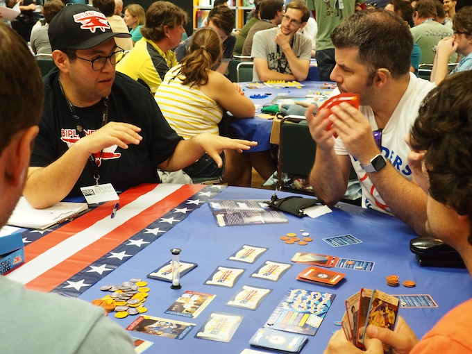 We had an awesome time showing off Filibuster at Gencon's First Exposure Playtest Hall this year!