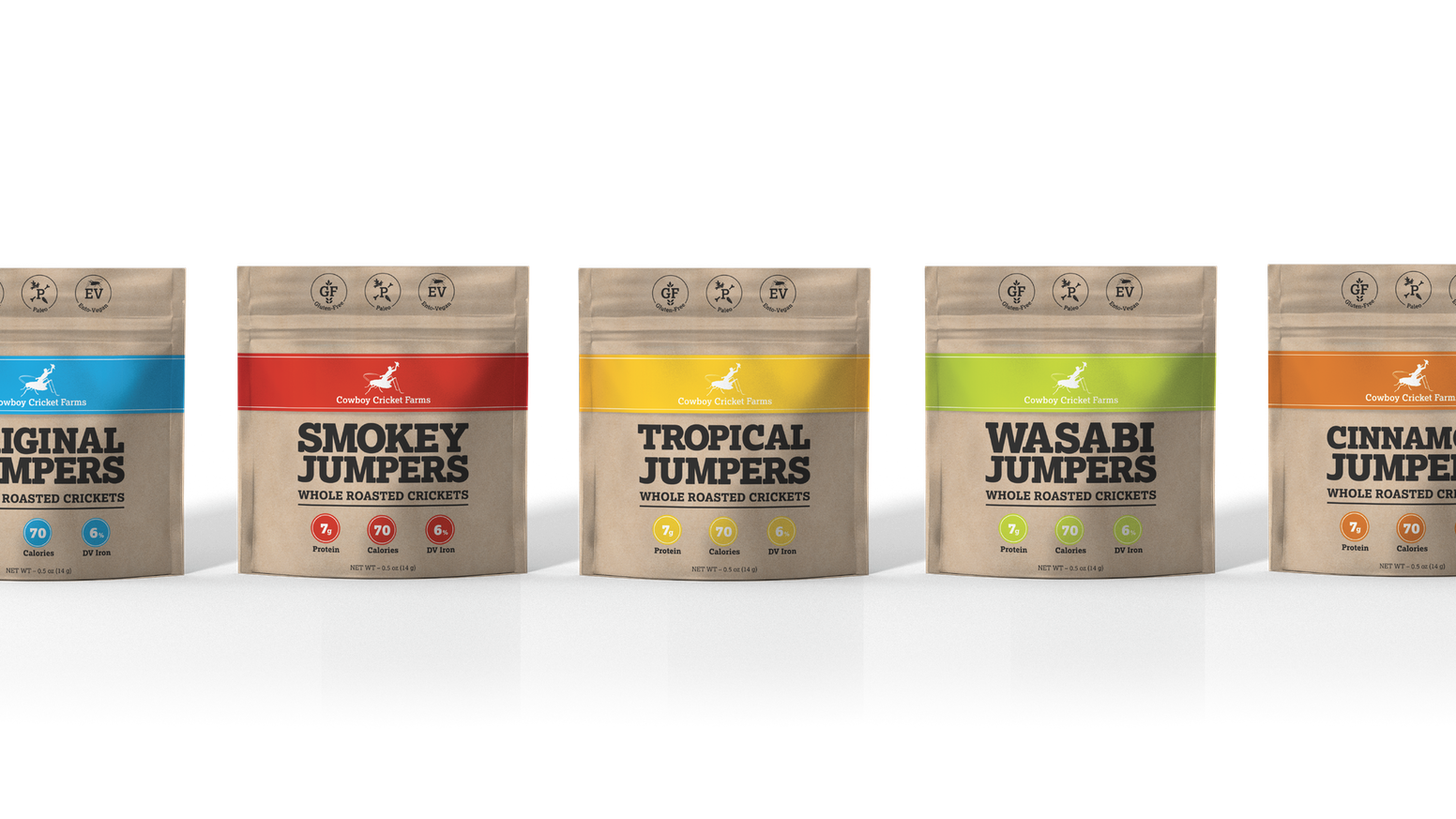 SuperSustainable SuperCrickets for SuperHumans!  Three brand new flavors of Jumpers -  and we want you to get them first!