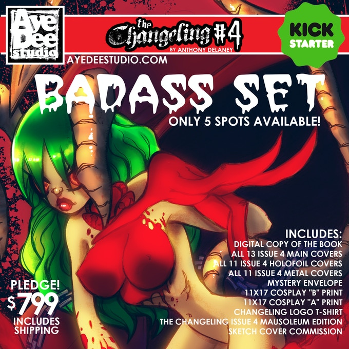The Changeling Issue 4 Badass Set!