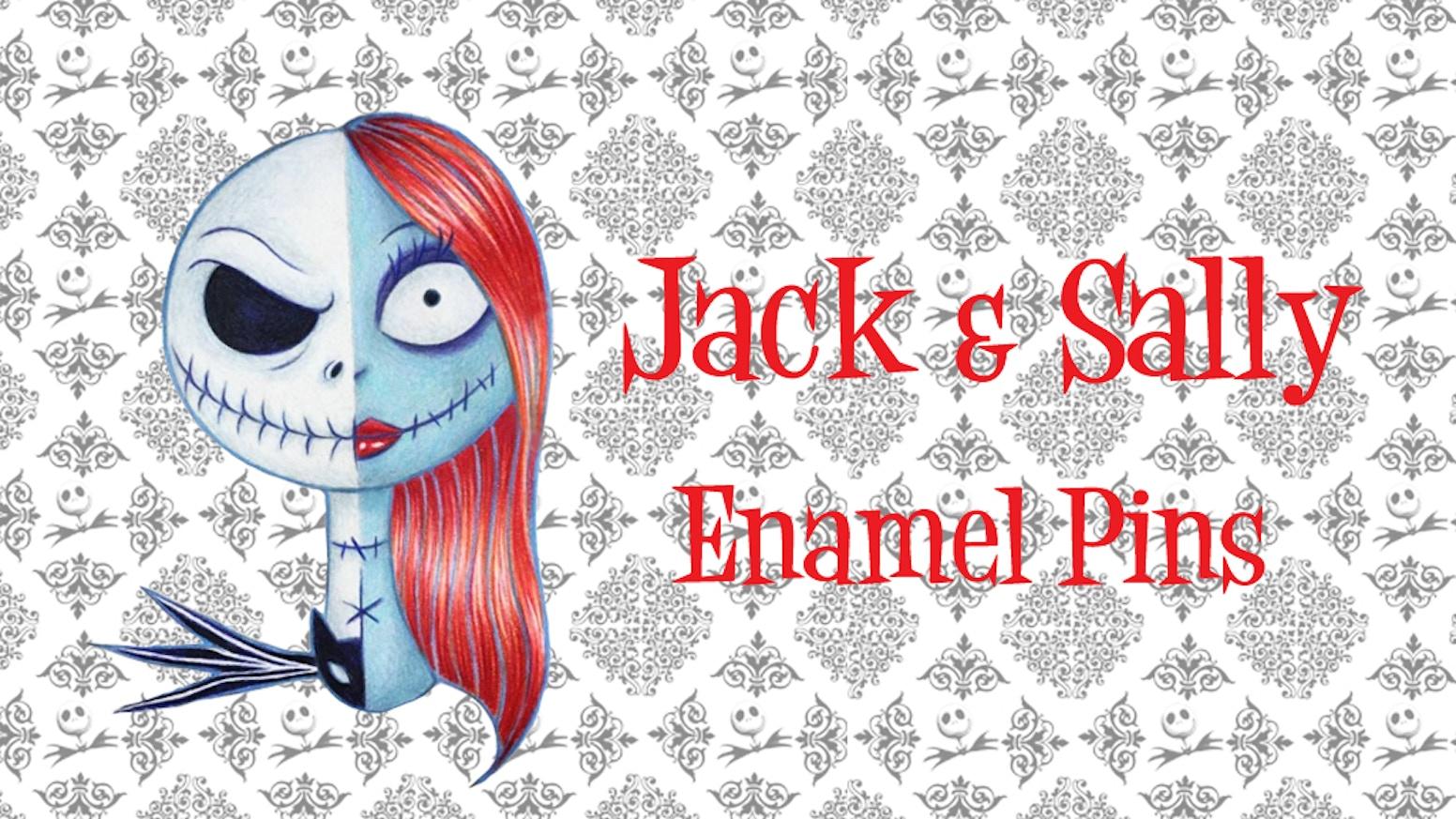 Jack And Sally Enamel Pins By Dada Kickstarter