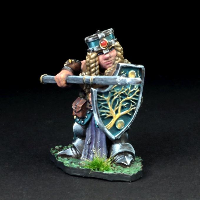 Female Dwarven Warrior w/Pike