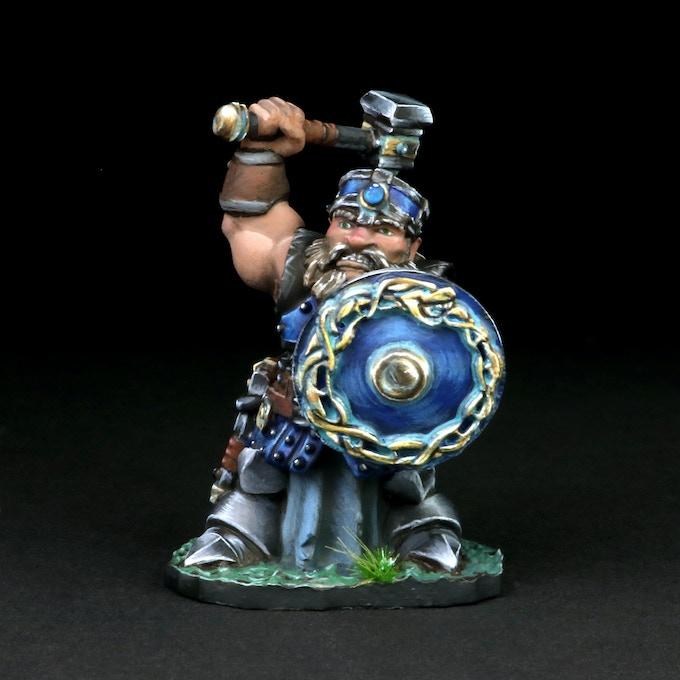 Dwarven Male with Battle Hammer