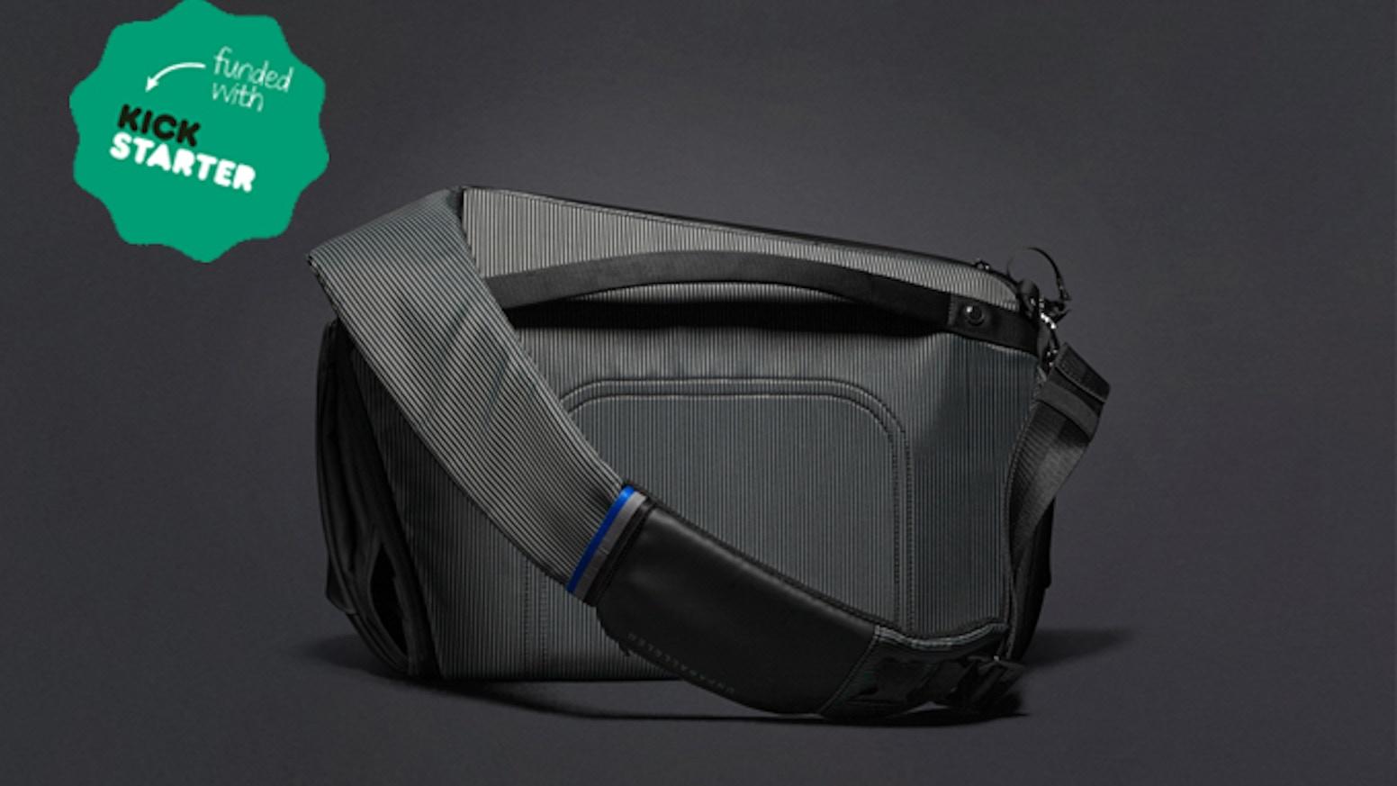 Sleek as a sling, spacious as a backpack. The best urban bag, period.