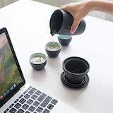 Élégant Portable Travel Tea Set