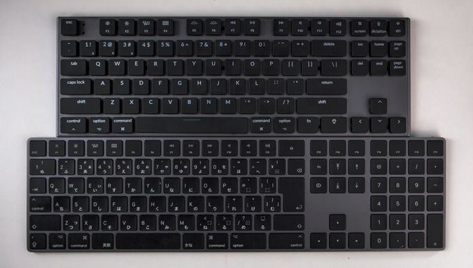 Keytron space grey color compare to Apple keyboard.