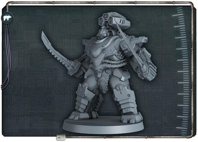 Keiji figure 3D render front view