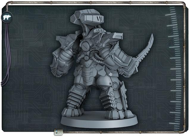 Keiji figure 3D render back view