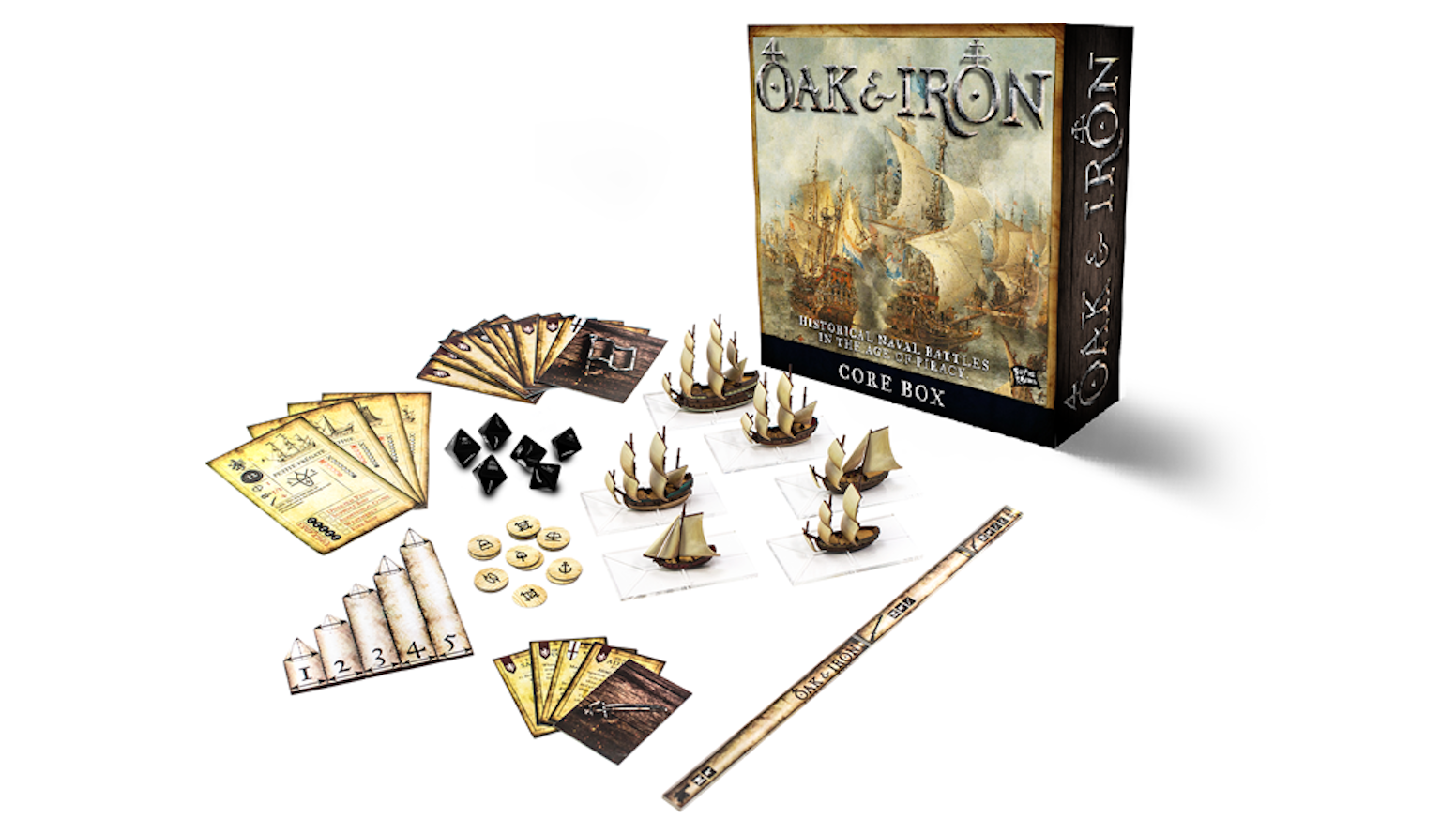 A fleet-based naval strategy game set during the Golden Age of Pirates and Sail using 1/600th scale miniatures.