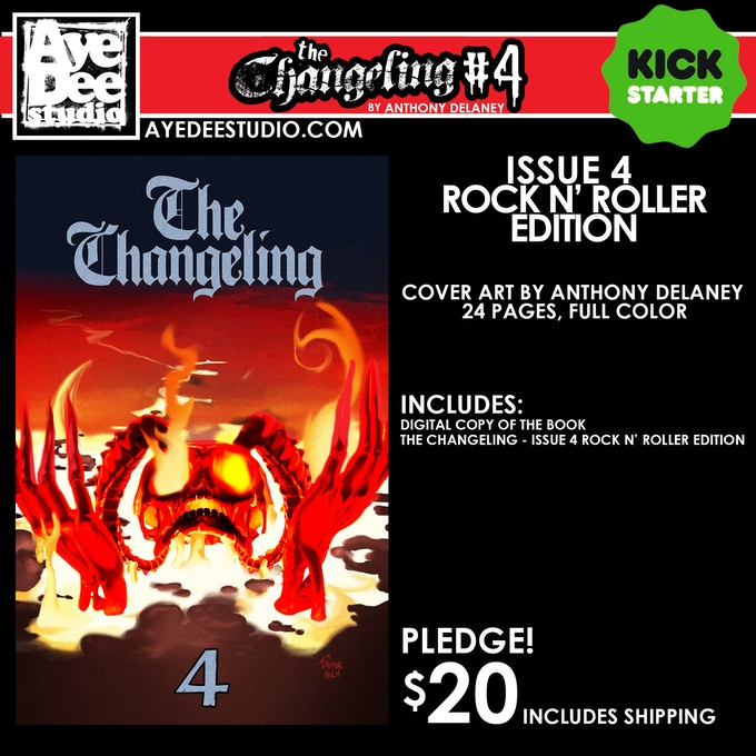 The Changeling Issue 4 Rock N' Roller Main Edition