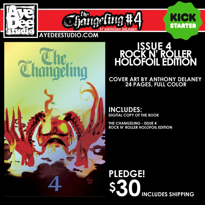The Changeling Issue 4 Rock N' Roller Holofoil Edition