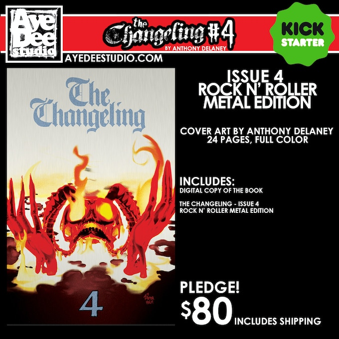 The Changeling Issue 4 Rock N' Roller Metal Edition