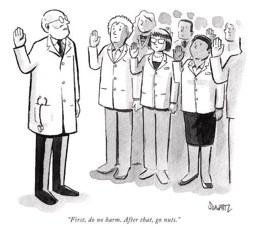 Dr. Ben Schwartz will autograph a New Yorker cartoon print.
