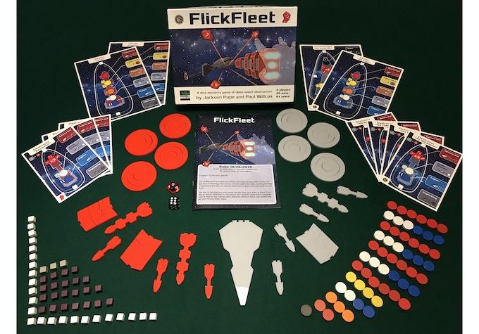 The components (prototype box art)