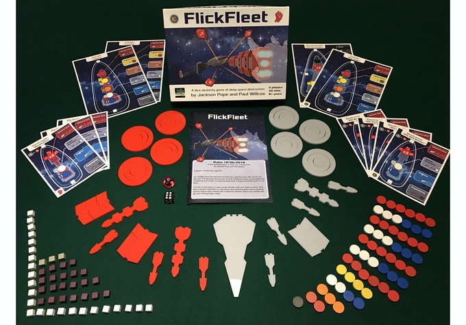 The components (prototype box art)