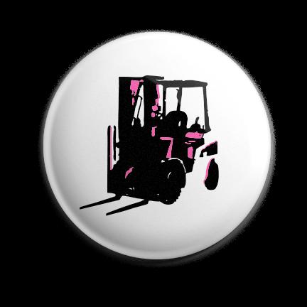 Working Class Press logo pin (pink)