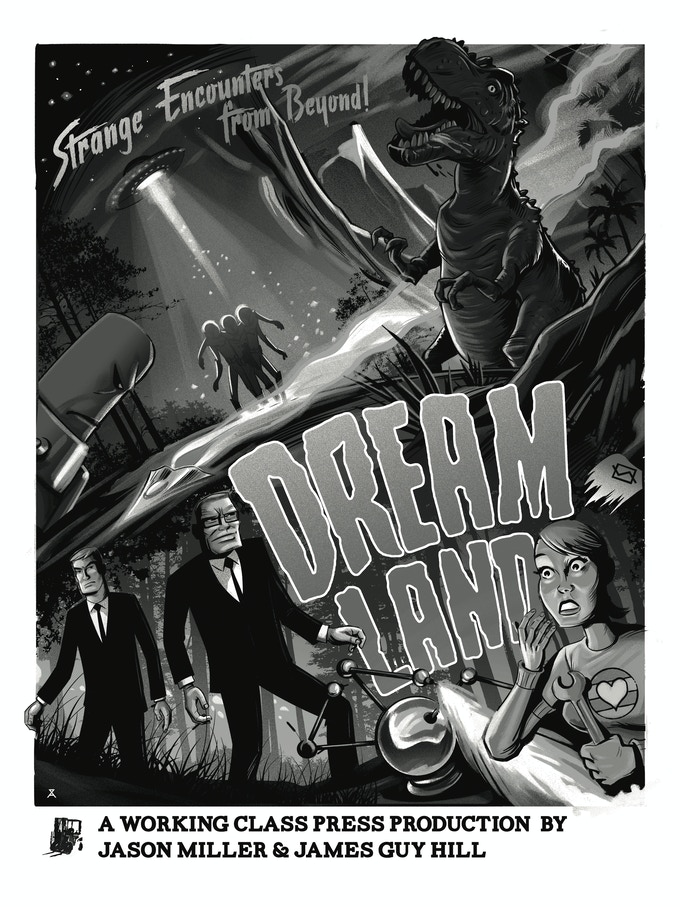 Dreamland poster by Alex Zablotsky 18x24 matte finish (black and white)