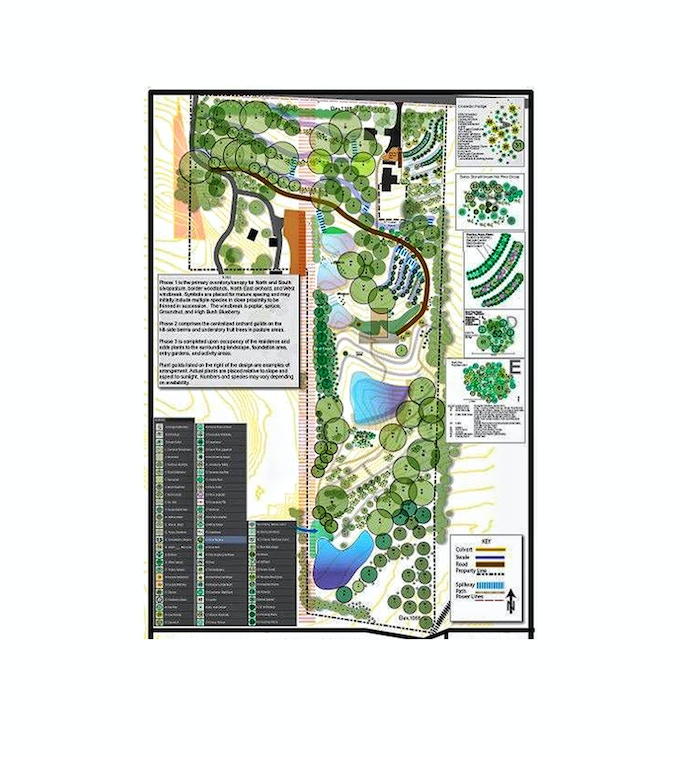 The 20 acre food forest project that hired Mortal Tree Design for installation