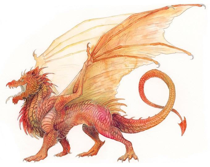 Y Ddraig Coch - The Red Dragon