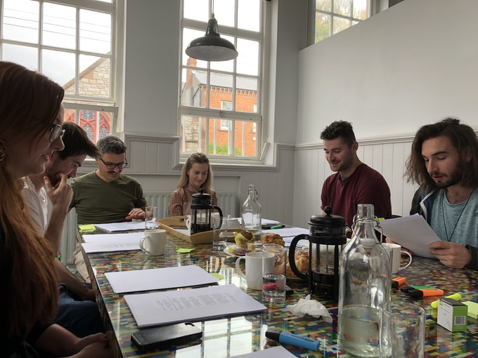 The Cast Table Read