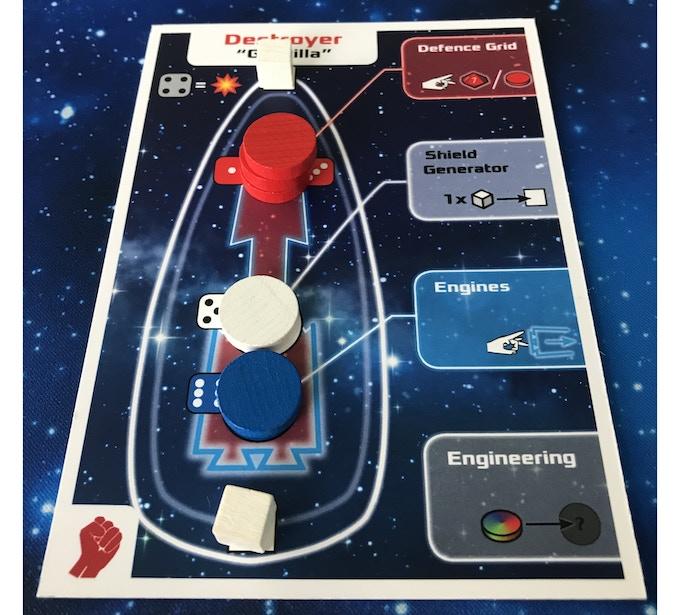 Example ship dashboard