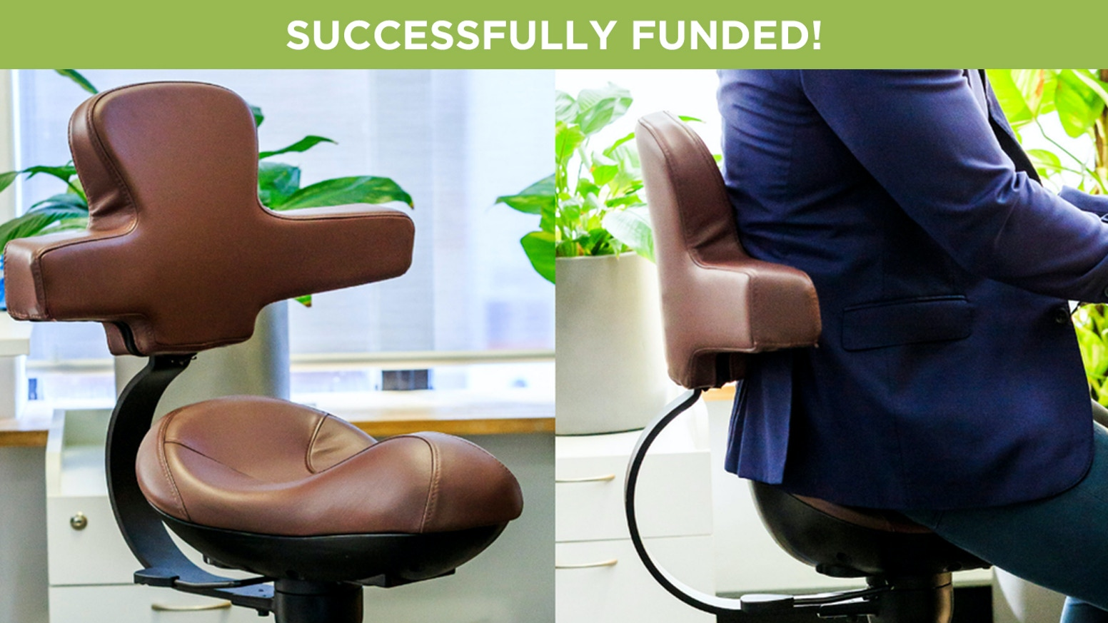 Designed by a chiropractor, these chairs have a unique, contoured saddle shape that will keep your spine in the perfect seated position