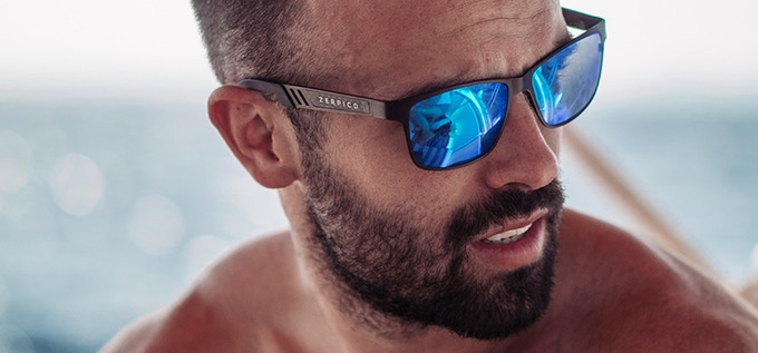 TITAN - Titanium wayfarer sunglasses with changeable lenses