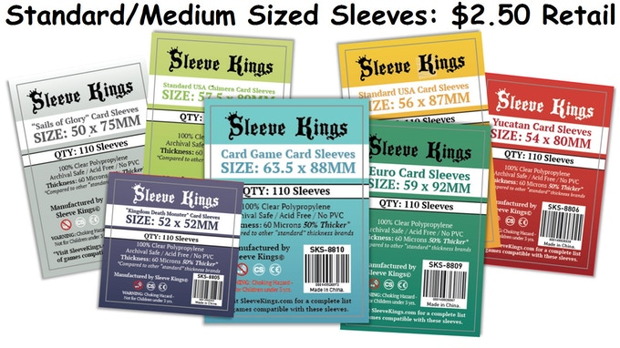 "These ""medium"" sleeves will fit most games.  Think of them as the ""average"" sized sleeves."
