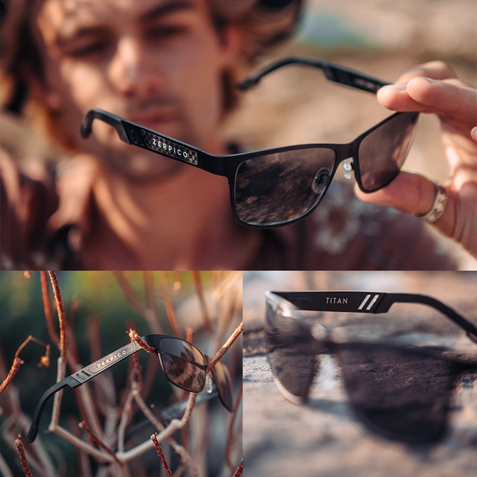 3595f4770e61 Every pair of our Titan sunglasses comes with an exclusive PU leather box  that ...