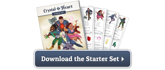 Crystal Heart - a colourful setting for Savage Worlds by Up