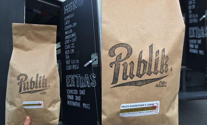 We currently supply freshly roasted coffee from local favorite: Publik Coffee Roasters