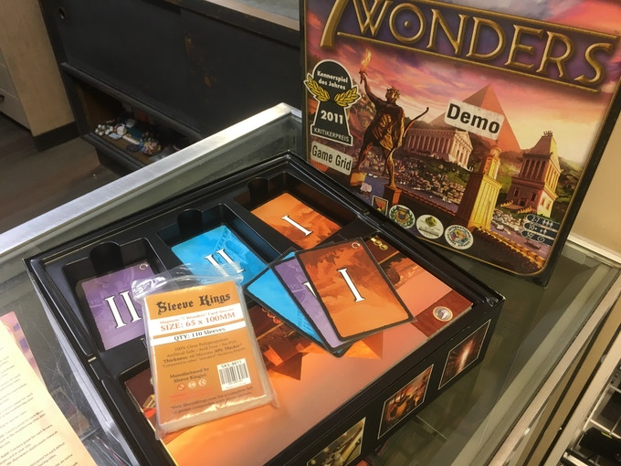 7 Wonders Cards fit PERFECTLY in our 65 X 100 MM Sleeves