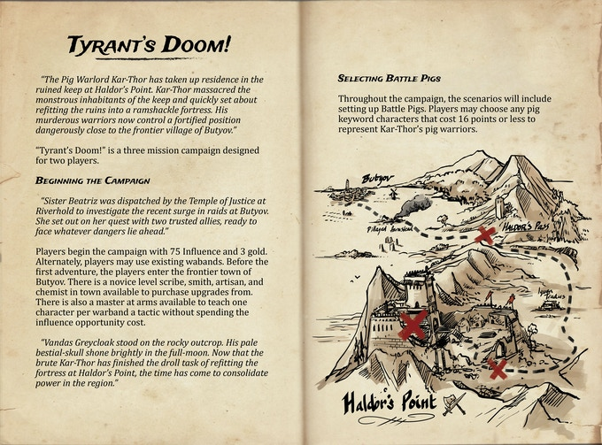 Just look at this awesome map. Now imagine leading your warriors on this dangerous quest!