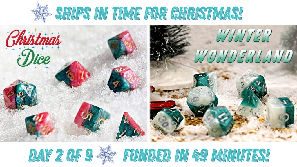 Halfsies Dice: The Christmas Edition