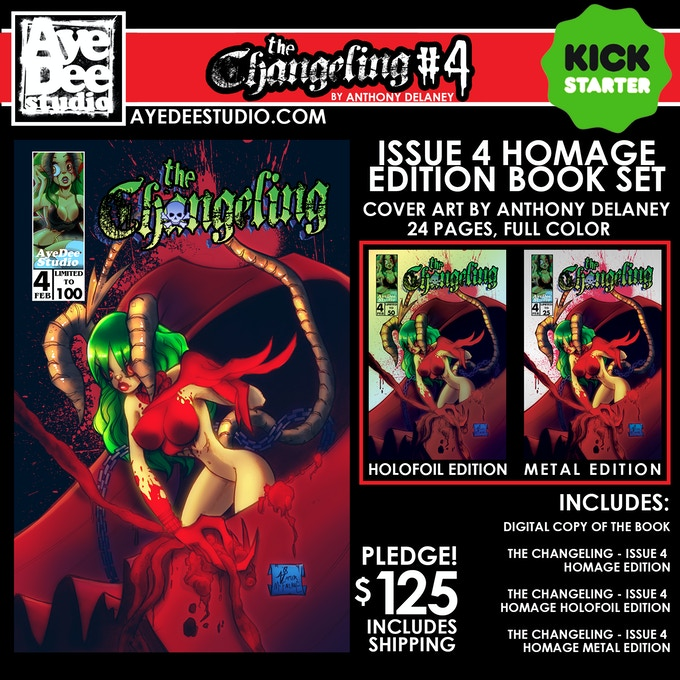 The Changeling Issue 4 Homage Edition Set