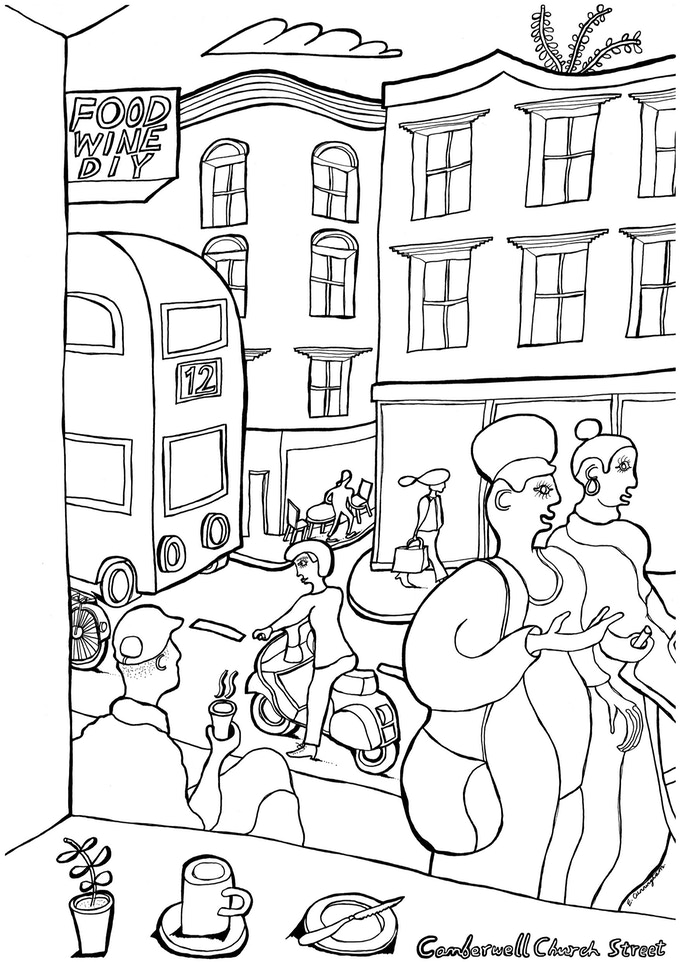 Euan Cunningham - Colour in Camberwell Illustration