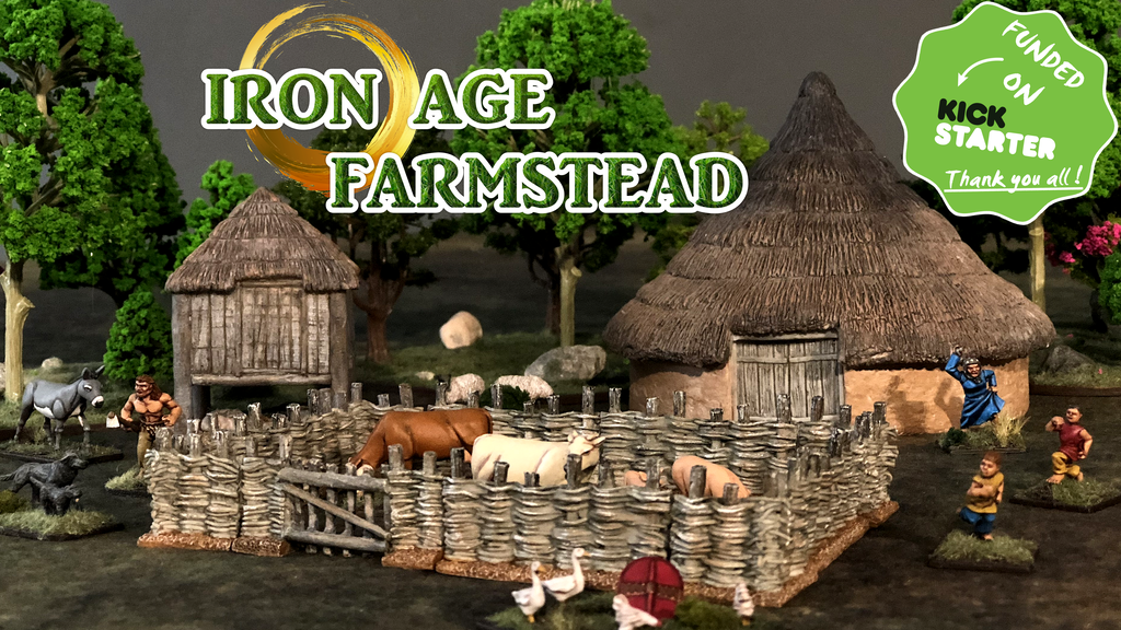 Iron Age Farmstead 28mm Miniature Wargaming Terrain project video thumbnail