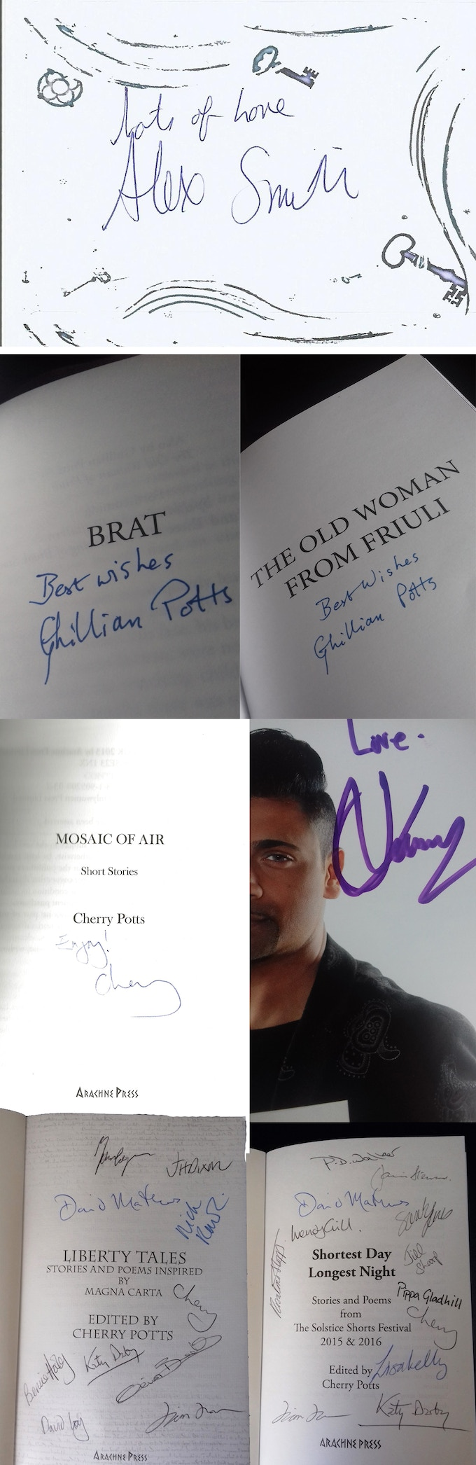 signed books...