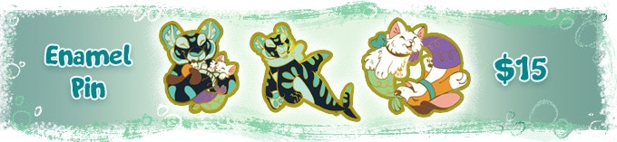 ANY non limited edition enamel pin in my collection can be added on including those found on etsy.com/shop/kikidoodle