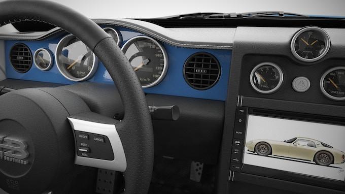 Interior Dash in colour of the car
