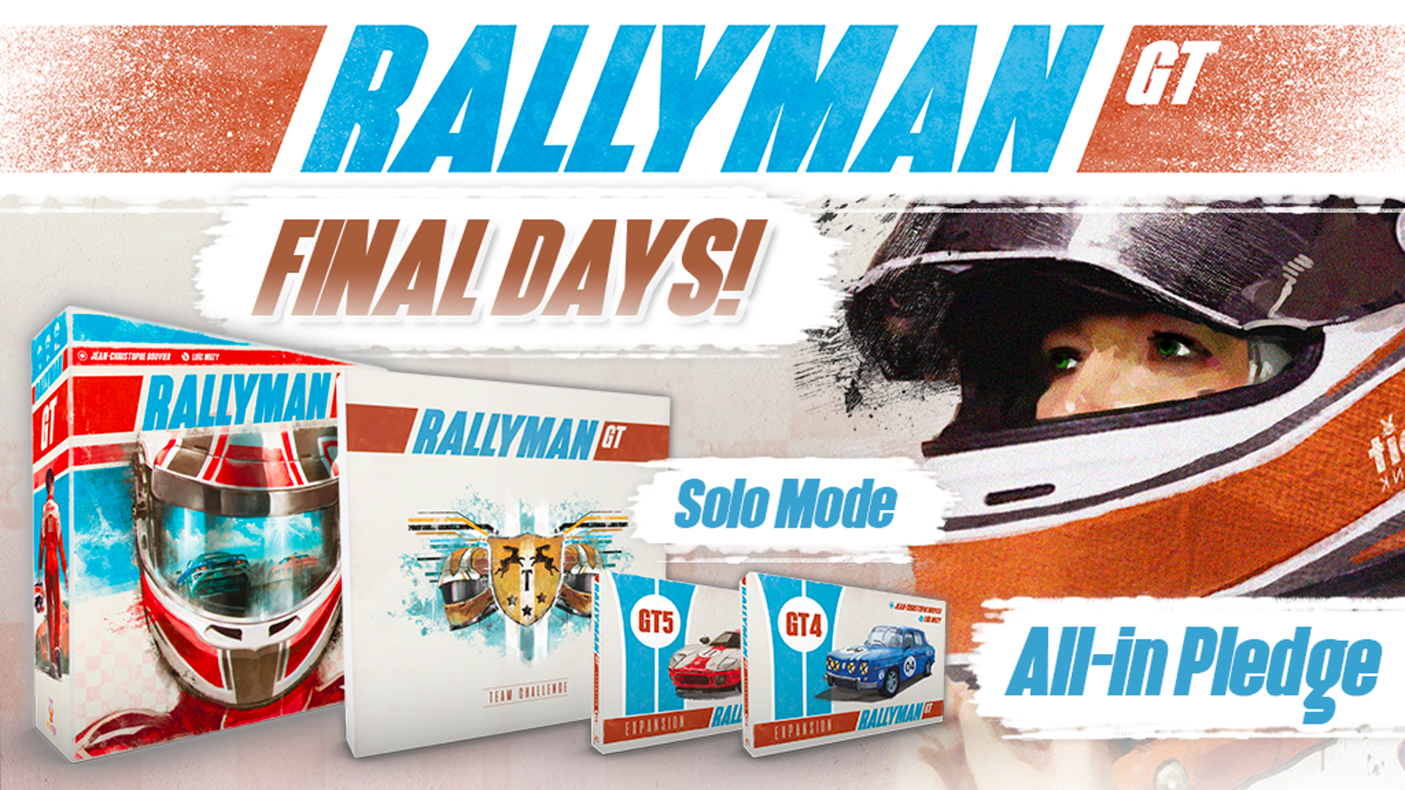 Rallyman GT is a fast-paced roll and move racing game that will have you pushing your luck to be the first over the finish line!