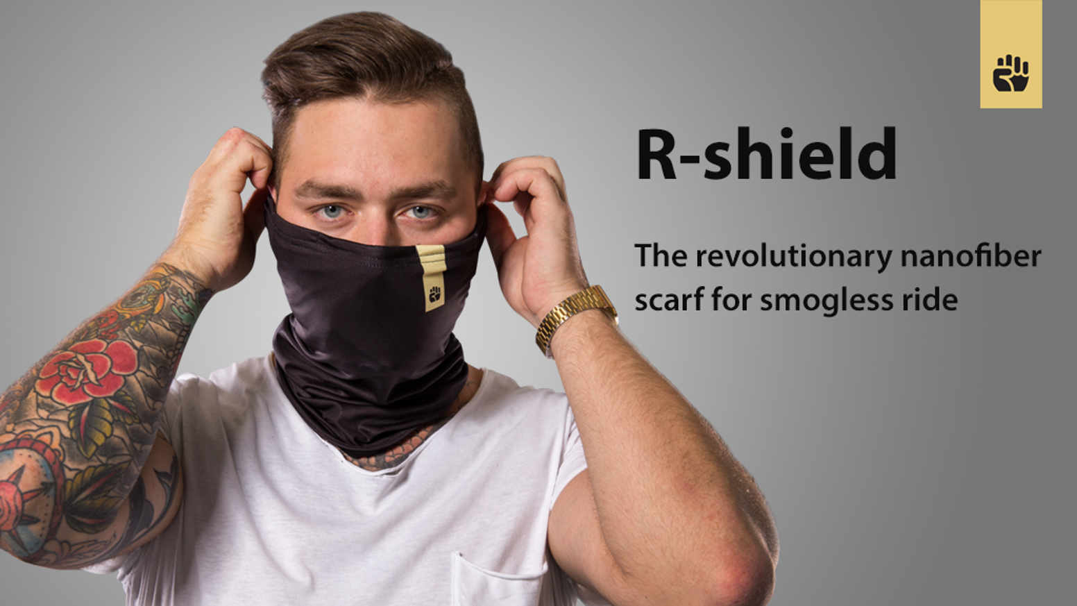 The first real smog protection that you can easily wear while staying classy. No exchangeable filters anymore.